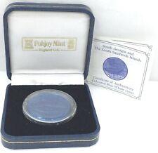 2013 South Georgia & The South Sandwich Islands Coloured Blue Whale Coin Box/COA