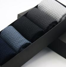 5 Pairs Men Socks Bamboo Fiber Breatheable Socks Casual Anti-Bacterial Deodorant
