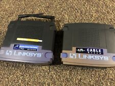 Linksys BEFW11S4 4-Port 10/100Wireless B Router AND BEFCMU10 Cable Modem