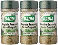 3 Pack Badia Complete Seasoning 3.5 Oz each
