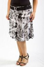 Below Knee A-Line Plus Size Skirts for Women