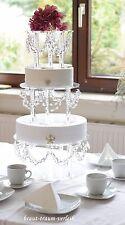 Kristall Tortenständer, Etagere, 3er Set, zum Brautkleid, Hochzeitsdeko