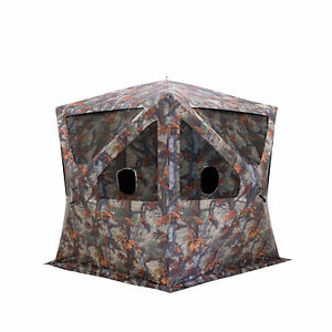 Barronett Blinds Big Cat 350 3 Person Pop-Up Hunting Blind, Bloodtrail Camo