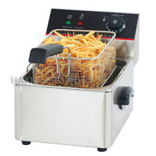 Hakka 1600w 8l Commercial Electric Deep Fryer Restaurant Countertop Fryer