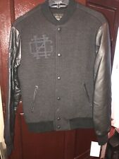 Zara Man Letterman Jacket Printed New York Black Medium