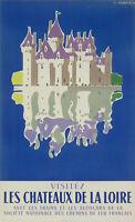 Original Vintage Poster - Jean Jacquelin - Chateau de la Loire - 1956