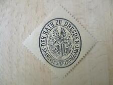 (32871) Siegelmarke - Dresden Brandversicherungsamt