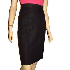 New BEGEDOR ITALIE Linen Skirt Sz 2 4 Black PENCIL - MADE IN ITALY Couture