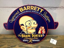 VINTAGE 30'S STYLE APPROVED BARRETT BRAKE SYSTEM GAS STATION DISPLAY SIGN WILD