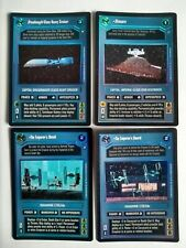 Star Wars ccg 4 M/NM Reflections II foil cards -> Chimaera, The Emperor's Shield
