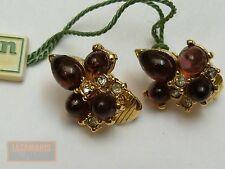 Vintage découpage CARVEN paris plaqué or Clip on Earrings Gold plated