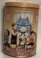 "Vintage 1990 Hershey's Kisses Hometown Series Canister #5 Collector Tin 6"" EUC"