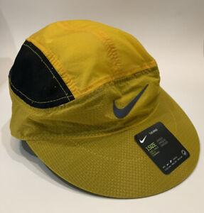 Nike Flash Reflective Tailwind Cap Strap Adjustable Hat Blue/Maize DA2058-010