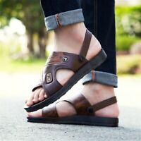 Men Summer Sandals PU Casual Open Toe Flat Fishing Sport Fashion Beach Shoes New