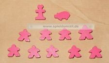 Carcassonne MEEPLES * ORIGINAL Spielsteine SONDERFARBE PINK Basis Erw.1 Händler