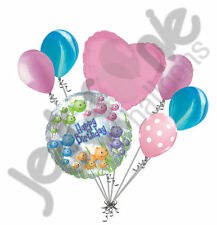 7 pc Clear Fishbowl Happy Birthday Balloon Bouquet Decoration Ocean Sea Party