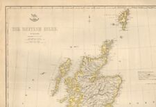 1863  LARGE ANTIQUE MAP - DISPATCH ATLAS- THE BRITISH ISLES
