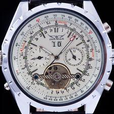 Tourbillon Dial Design JARAGAR New Automatic Leather Mechanical Watch For Men