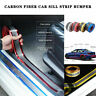 5CMx1M Car Sticker Carbon Fiber Rubber Edge Guard Strip Door Sill Protector DIY