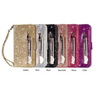 for IPhone 11 Pro Glitter Leather Wallet Case Zipper Shockproof Flip Cover  H1P3