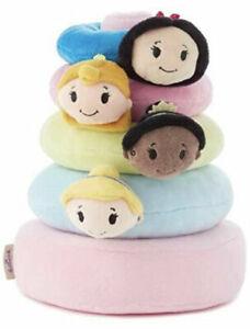 Hallmark Itty Bitty Baby Disney Princess Plush Ring Stack 5 Pc