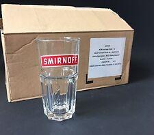 6x SMIRNOFF Vodka Glas Gläser NEU OVP Longdrink Cocktail 34cl Stapelglas