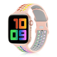 Soft Silicone Sport Band Compatible Apple Watch Series 6, 5, 4, 3, 2, 1, SE