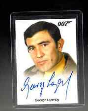 2015 JAMES BOND 007 ARCHIVES George Lazenby auto card