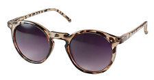 PERFECT Retro Round Designer Style Tortoiseshell Sunglasses with Black Lenses
