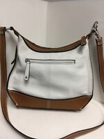 Tignanello Handbag Purse Ivory Brown Leather H50