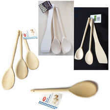 Wooden Cooking Utensil Spoon KITCHEN Set Cookware Serving Stirring Slotted Mix