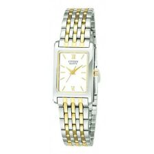 Citizen EJ5854-56A Stainless Steel Two Tone Rectangular Ladies Quartz Watch