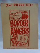 Vintage BORDER RANGERS Press Kit 1950 Original Envelope