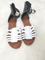 Jessica Simpson ankle Sandals black And White 7.5