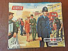 AIRFIX HO/OO CIVILIANS FIGURES, INCOMPLETE SET (36/48) ON SPRUES.  TYPE 3 BOX.