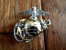 U.S Marine Corps Ega Lapel Hat Pin Usmc Eagle Globe & Anchor Cap Insignia Left