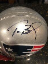 Tom Brady Autograph Mini Helmet GAI Certification