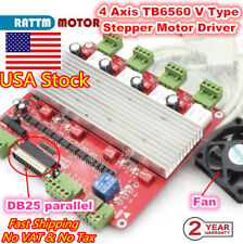 �in Usa】High Speed 4 Axis Stepper Motor Cnc Mach3 Controller Board Tb6560 V Type