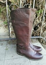 Frye Phillip Dark Brown Leather Riding Knee High Boots Womens Size 9 B