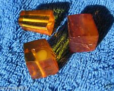 Natural Baltic amber 10 g gr Cognac pyramid octagon carved beads craft  琥珀