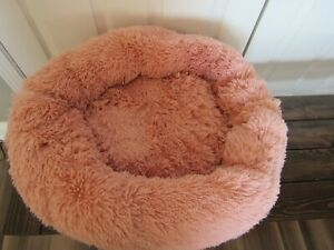 Joyreap Round Plush Dog Bed,Faux Fur Donut Pet Bed, Fluffy Cat Bed Cuddler Cushi