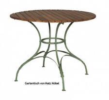 TARA, Gartentisch rund 100 cm Holz Metall im Biergarten Stil von Matz Möbel