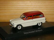 SIMCA ARONDE PC0 RANCH  NOREV 1/43