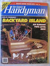 The Family Handyman April 1993 Build a Backyard Island, Wood Floor Touch Ups
