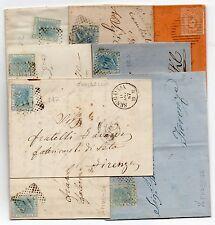 1867/82 ITALY REGNO LETTERE CON ANNULLI A PUNTI E SBARRE B/5706