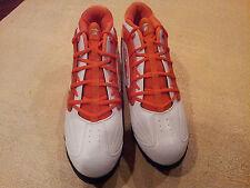 Reebok Men Shoes*NFL WorkHorse MId ST*White/Orange*Sz 15*Cleated*New*Football*