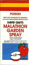Malathion Garden Spray - 200mL David Grays Aphid Scale Moth Tree Fruit Flies