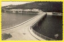cpsm Rare CHAUMARD (Nièvre) Lac Barrage de PANNECIÈRE Nouveau PONT Route Voiture