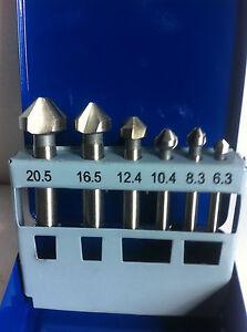 6PC Countersinking Bits. HSS Counter Sinking Bits. 6.3-20.5mm