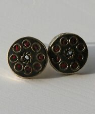 Tibetan Stud Earrings - Boho/Hippy/Ethnic Style.  Brass.